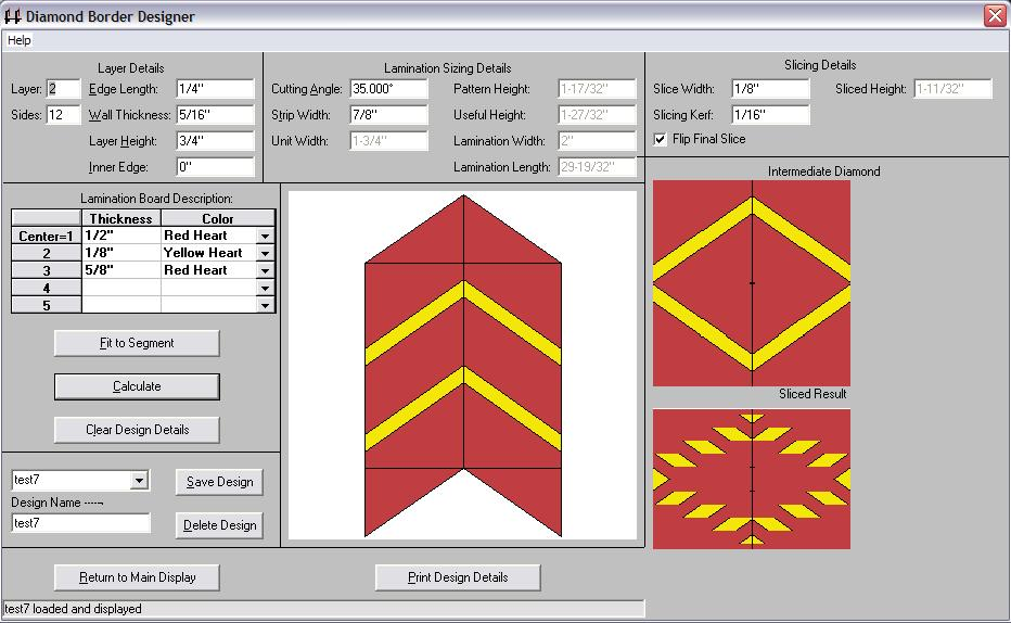diamond border designer dialog