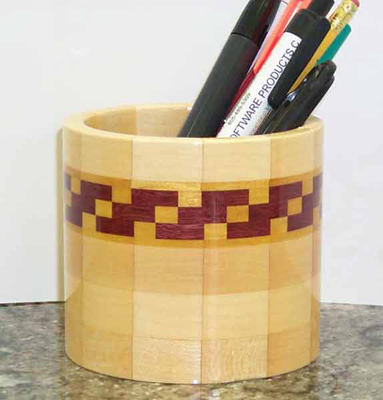 Segmented Cup with Mosaic Design