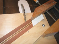Miter Setup for Cutting Strips