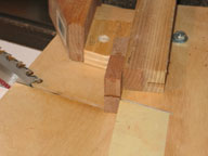 Miter Sled Setup for Second Miter Cut