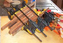 Glue up of feature ring stock